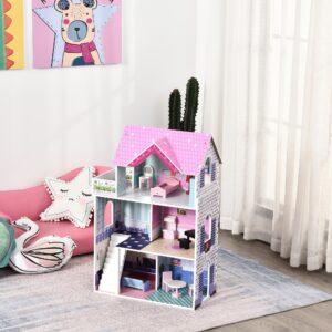 Casa de bonecas de madeira
