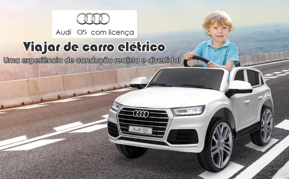 Carro elétrico Audi Q5 Branco