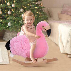 Cavalinho de baloiço Flamingo