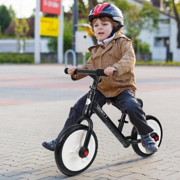 Bicicleta Balance com pedais e rodinhas removíveis
