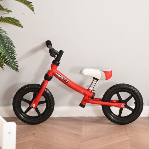 Bicicleta sem pedais em Vermelho